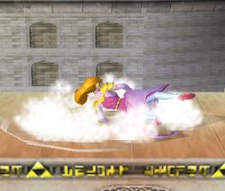 Ataque de recuperación de cara hacia arriba de Zelda (2) SSBM