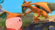 Charizard junto a Kirby SSB4 (Wii U)