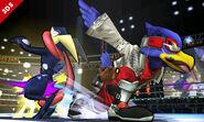 Falco y Greninja en el Cuadrilátero SSB4 (3DS)