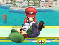 Lanzamiento hacia arriba (1) Mario SSBB