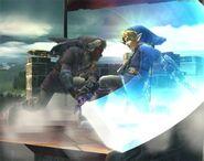 Link con el color de Link Oscuro SSBB
