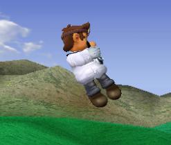 Ataque aéreo hacia abajo de Dr. Mario SSBM