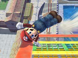 Ataque de recuperación desde el borde -100% Mario SSBB
