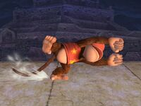 Ataque fuerte lateral Diddy Kong SSBB