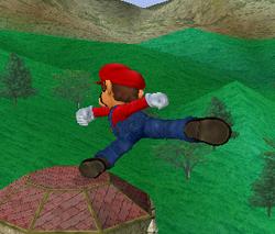 Ataque fuerte lateral de Mario SSBM