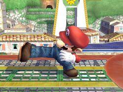 Ataque de recuperación al resbalar (2) Mario SSBB