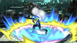 Lanzamiento hacia abajo Cloud (2) SSB4 (Wii U)