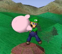 Lanzamiento hacia abajo de Luigi (1) SSBM