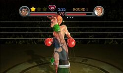 Little Mac realizando Star Punch en Punch-Out!!