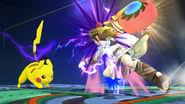 Pikachu y Pit en el Castillo del Dr. Willy SSB4 (Wii U)