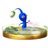 Trofeo de Pikmin azul SSB4 (Wii U)