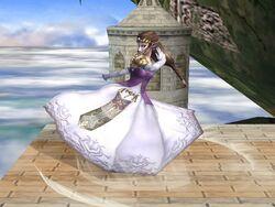 Ataque Smash inferior Zelda SSBB