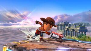 Ataque de recuperación desde el borde Tirador Mii SSB4 Wii U