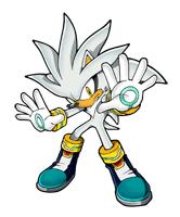 Pegatina Silver the Hedgehog SSBB
