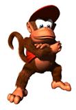Pegatina de Diddy Kong en DK64 SSBB