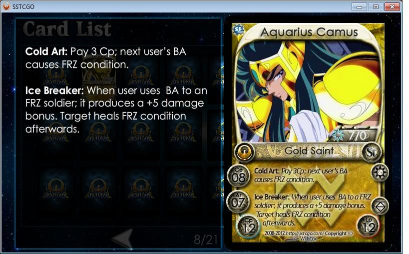 Aquarius Camus | SSTCGO2 Wikia | FANDOM powered by Wikia