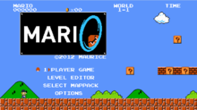 Mari0 Title Screen