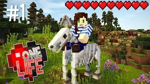 LUCKY SKELETON HORSE! - ONE LIFE MINECRAFT SMP (EP