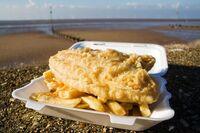 Puntzakje Friet fish en chips