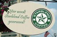 Starblend Coffee Uithangbord