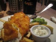 Puntzakje Friet fish en chips 2