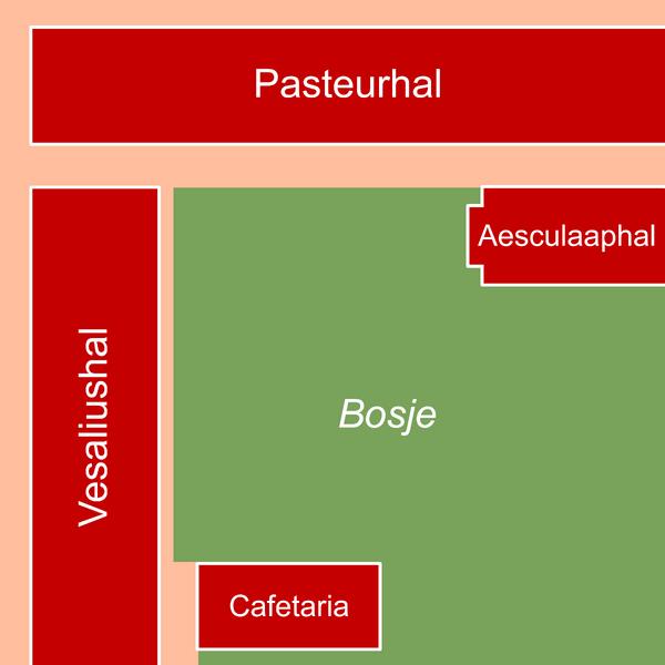 Kaart Derde Campus