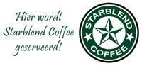Starblend Coffee geserveerd