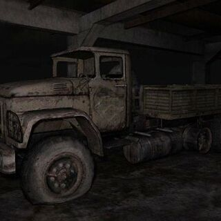 Ciężarówka z pojemnikiem