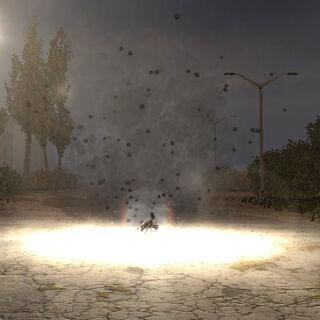 Eksplozja miny przecipiechotnej