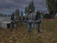 Наёмники лагерь у вагончика