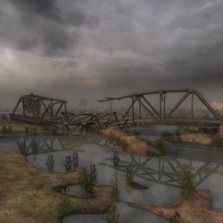 Zniszczony most