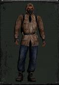 Skórzana kurtka beżowa z maską