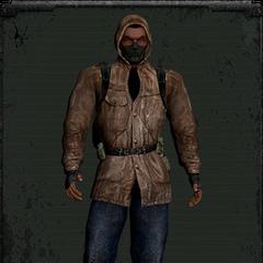 Skórzana kurtka z maską