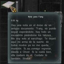 Nota para Fang