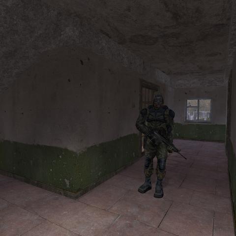 Strażnik obok arsenału