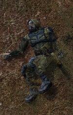 Мёртвый свободовец из группы Угрюмого