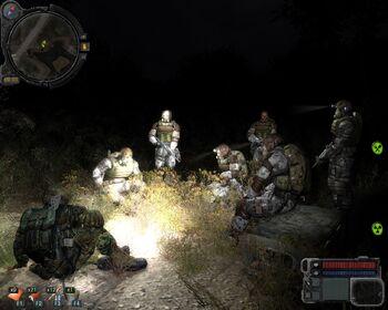 Obóz w nocy