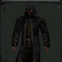 Skórzany płaszcz wariant 1