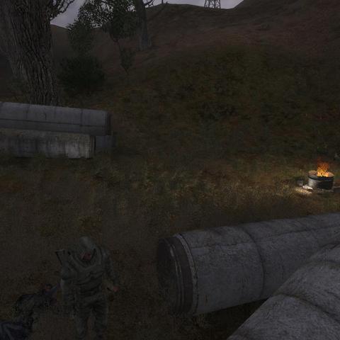 Obóz zajęty przez Stalkerów