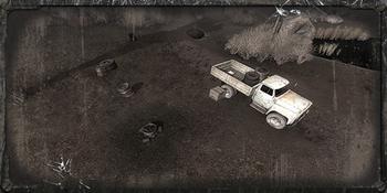 Obóz przy ciężarówce