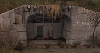 Tunel tuż przed zniszczeniem.