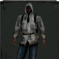 Skórzana kurtka biała z kominiarką
