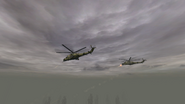 Штурм Янтаря военными вертолётами