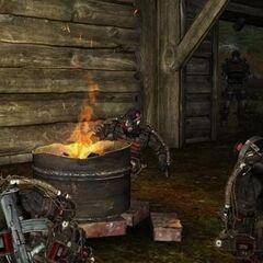 Stalkerzy przy ognisku