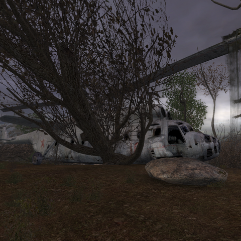 Rozbity Mi-6 w Lesie