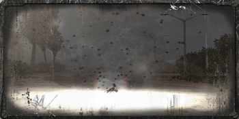 Pole Minowe 1, eksplozja miny