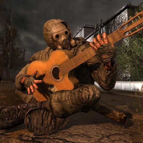 Stalker grający na gitarze