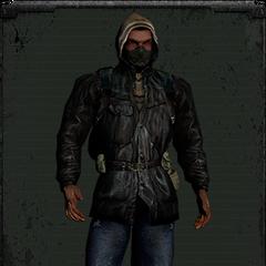 Kurtka bandytów z maską