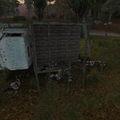 Zwłoki przy ciężarówce