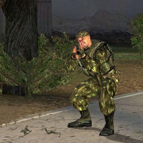 Żołnierz w buildzie 1154